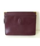 カルティエ Cartier バッグ クラッチバッグ セカンドバッグ マストライン レザー ボルドー ゴールド金具 かばん 鞄 カバン
