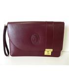 カルティエ Cartier セカンドバッグ クラッチバッグ マストライン レザー ボルドー ゴールド金具 かばん 鞄 カバン