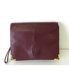 カルティエ Cartier バッグ セカンドバッグ クラッチバッグ マストライン レザー ボルドー ゴールド金具 かばん 鞄 カバン