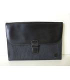 ダンヒル dunhill バッグ ビジネス クラッチ ドキュメント レザー PVC ロゴ 黒 ブラック 書類 かばん 鞄 カバン