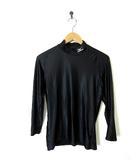 ミズノ MIZUNO シャツ バイオギア ハイネック ロゴ 長袖 O XL 黒 ブラック スポーツウエア 野球 ゴルフ