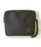 ダンヒル dunhill バッグ セカンドバッグ PVC レザー ロゴ グレー ブラウン かばん 鞄 カバン