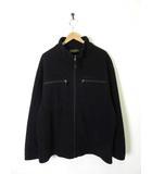ティンバーランド Timberland フリース ジャケット ジップアップ ロゴ刺繍 長袖 XL 黒 ブラック 国内正規品