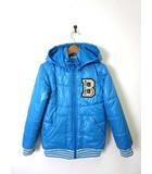 ブランシェス BRANSHES ジャケット ブルゾン フード ジップアップ 長袖 ロゴ 150 ブルー 男の子