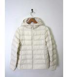 ユニクロ UNIQLO ジャケット 中綿 ライトウォームパデットパーカ ジップアップ 長袖 150 アイボリー