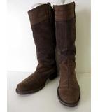 ティンバーランド Timberland ブーツ ロングブーツ エンジニアブーツ 本革 スエード レザー 24.5 モカブラウン 茶色 くつ 靴 シューズ