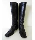 バリー BALLY ブーツ ロングブーツ ジョッキーブーツ 本革 レザー 23.5 黒 ブラック くつ 靴 シューズ
