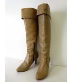 ヒミコ 卑弥呼 elegance ブーツ ロングブーツ 本革 レザー 24.0 ベージュ くつ 靴 シューズ