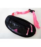 アディダス adidas バッグ ウエストバッグ ボディバッグ ナイロン 黒 ブラック ピンク 国内正規品