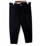 カバンドズッカ CABANE de zucca パンツ サルエルパンツ ワイドパンツ ストレッチ S 黒 ブラック 日本製