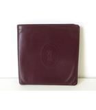 カルティエ Cartier 財布 二つ折り レザー マストライン ボルドー 牛革 ウォレット