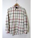 チャップス CHAPS ラルフローレン シャツ ボタンダウンシャツ カジュアルシャツ 長袖 チェック柄 L オフ白 グレー 赤 国内正規品