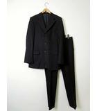 グッチ GUCCI スーツ 上下 セットアップ ジャケット ブレザー パンツ スラックス 50 チャコールブラック 灰黒 紳士 ブランド 通勤 ビジネス
