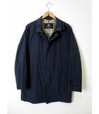 バーバリー BURBERRY コート ステンカラーコート 裏ノバチェック M 紺 ネイビー 紳士 ビジネス 通勤 国内正規品