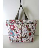 レスポートサック LesportSAC バッグ トートバッグ ハンドバッグ 花柄 薄ピンク ラベンダー グレー かばん 鞄 カバン