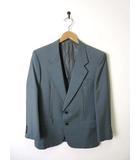 ニナリッチ NINA RICCI ジャケット テーラード シングル ブレザー モヘア ウール 背抜き 長袖 90A4 M グレー系