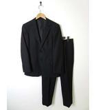 ジュンココシノ JUNKO KOSHINO ジュンキーノ JUNCHINO スーツ シングル ウール ジャケット スラックス 上下セットアップ 90A4 M 黒 ブラック