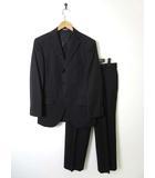マリクレール MARIE CLAIRE スーツ シングル ウール 背抜き ジャケット スラックス 上下セットアップ AB4 S 黒 ブラック