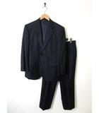 ダーバン DURBAN ロロピアーナ Loro Piana スーツ シングル ストライプ柄 ウール 上下セットアップ 94AB4 M 紺 ネイビー