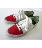 スペルガ SUPERGA スニーカー シューズ キャンバス イタリア 国旗 27.0 白 ホワイト 赤 グリーン 緑 くつ 靴