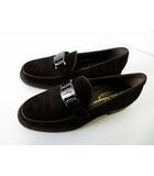 サルヴァトーレフェラガモ Salvatore Ferragamo ローファー シューズ ヴァラ 本革 スエード レザー 7.5 D ダークブラウン こげ茶色 くつ 靴