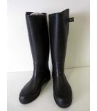 エーグル AIGLE ブーツ レインブーツ 長靴 ロングブーツ ラバー 36 黒 ブラック 紫 パープル くつ 靴 シューズ