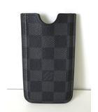 ルイヴィトン LOUIS VUITTON アイフォン ケース ダミエグラフィット iPone 5 スマホ 携帯カバー ハードケース 黒 グレー 小物