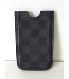 ルイヴィトン LOUIS VUITTON アイフォン ケース ダミエグラフィット iPone 4 スマホ 携帯カバー ハードケース 黒 グレー 小物