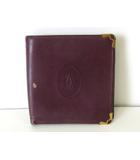 カルティエ Cartier 財布 二つ折り マストライン レザー ボルドー ゴールド金具 牛革 ウォレット