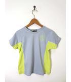 ダミス DAMISS Tシャツ 半袖 サイドメッシュ Vネック M グレー フィットネス ヨガ トレーニング スポーツウェア