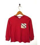 バーバリー BURBERRY Tシャツ 長袖 ノバチェック柄 ロンT コットン 120 国内正規品