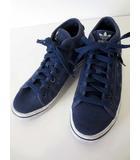 アディダス adidas スニーカー キャンバス ハイカット 星 スター 23.0 紺 ネイビー くつ 靴 シューズ