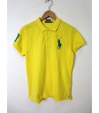 ラルフローレン RALPH LAUREN ポロシャツ 半袖 ビックポニー ロゴ ナンバー 刺繍 M 黄 緑 国内正規品