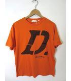 ディーゼル DIESEL Tシャツ 半袖 ロゴ XL オレンジ 黒 タグ付 美品 大きいサイズ