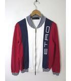 エトロ ETRO ジャケット トラックジャケット コットン ダブル ジップアップ ロゴ S 白 紺 赤 イタリア製 国内正規品
