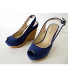 トランテアン ソン ドゥ モード 31 Sons de mode サンダル ウエッジサンダル レザー 厚底 L 青 ブルー くつ 靴 シューズ