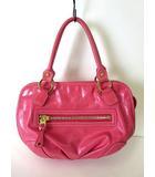 ヨンドシー 4℃ バッグ ハンドバッグ フェイクレザー ピンク ゴールド かばん 鞄 カバン