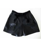 ランバンオンブルー LANVIN en Bleu キュロット キュロットスカート キュロットパンツ フェイクレザー リボン 38 黒 ブラック 国内正規品