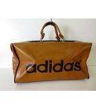 アディダス adidas バッグ ボストンバッグ ヴィンテージ 本革 レザー ビッグ ロゴ 茶色 ブラウン かばん 鞄 カバン 遠征 旅行