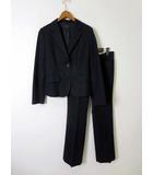 オフオン ofuon パンツスーツ 上下セットアップ ジャケット ブレザー ストライプ M 紺 ネイビー