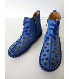 ケイコキシ KEIKO KISHI by nosh ブーツ シューズ くつ 靴 コンフォートシューズ パンチング レザー 23.0 青 ブルー カジュアルシューズ