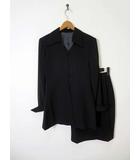 ブラックフォーマル 上下セットアップ スカートスーツ ジャケット スカート メッシュ 切替 S 黒 ブラック