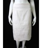23区 オンワード樫山 スカート タイトスカート 後ろスリット ストレッチ コットン 48 4L 白 ホワイト 大きいサイズ