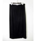 レオナール LEONARD スカート ロングスカート とろみ スリット 76 黒 ブラック 国内正規品