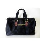 エレッセ ellesse バッグ ボストンバッグ ショルダーバッグ ロゴ 刺繍 ナイロン 黒 ブラック ゴールド かばん 鞄 カバン