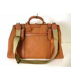ケンゾー KENZO バッグ ボストンバッグ ドクターバッグ ショルダーバッグ レザー ナイロンキャンバス ロゴ 総柄 オレンジ かばん 鞄 カバン