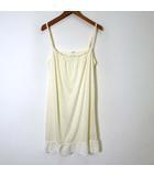クランプリュス ミッシェルクラン KLEIN PLUS ワンピース キャミワンピース フレア 裾 レース 刺繍 M アイボリー 美品