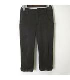 ソニアリキエル SONIA RYKIEL パンツ クロップド カプリパンツ 裾リボン コットン ストレッチ XS 30 ブラウン こげ茶 小さいサイズ