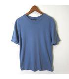 アーペーセー A.P.C. Tシャツ 半袖 リネン コットン 綿麻 クルーネック XS くすみブルー 小さいサイズ