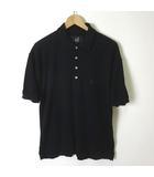 ダンヒル dunhill ポロシャツ 半袖 ロゴ 刺繍 コットン L 黒 ブラック 国内正規品